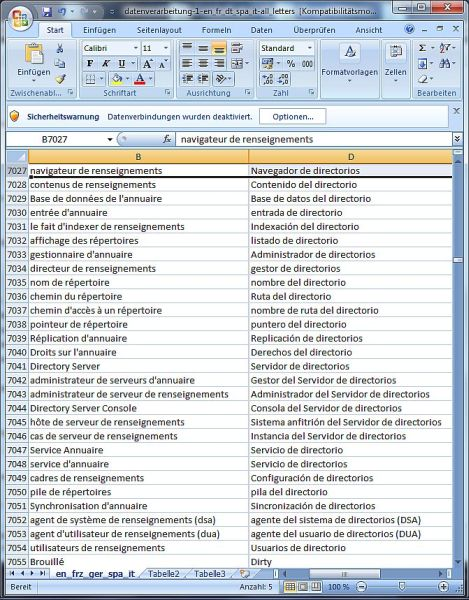 Click to view Dataprocessing Dictionary French Spanish 1.8 screenshot