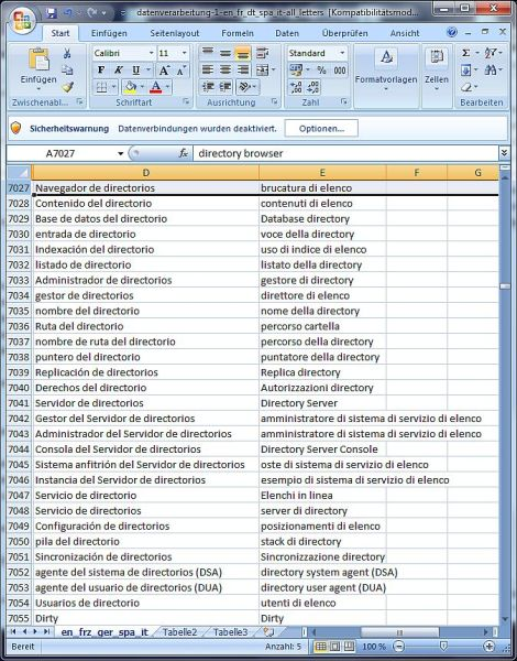 Click to view Dataprocessing Dictionary Spanish Italian 1.8 screenshot